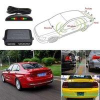 Car Parktronic LED Parking Sensor With 4 Sensors Reverse Backup Car Parking Radar Monitor Detector System 22MM Backlight Display