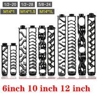 """Spirale de 6 """"10"""" 12 """"1/2-28 5 / 8-24 Noir Noir Tube en aluminium Noir Filtre à carburant Traps de solvant pour NAPA 4003 WIX 24003 Filtres"""