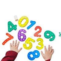Numero Push Pop Bubble Fidget giocattolo Party Favore Stress Reliever Giocattoli Sensoriale e ansia Sollievo per bambini Studio di matematica DHL spedizione
