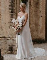 2022 Modern Simple Design Mermaid Wedding Dresses Bridal Gowns Sexy Spaghettu Straps Backless Spandex Vestidos De Noiva Custom Size