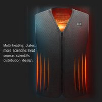 Winter 2021 Men Heating Vest Outdoor Sports Electric Thermal Waistcoat Cycling Camping Fishing Warm Heat Men's Vests