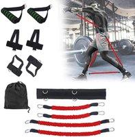 Resistência, bandas, corpo, exercício, banda, set perna, boxe, boxe, formação, fitness, fitness, fittfit, puxar, corda, booty, saltando, treinador