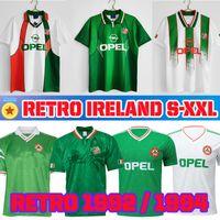 레트로 아일랜드 1990 1992 1994 1988 축구 유니폼 2021 Jersey 90 93 92 94 96 클래식 빈티지 아일랜드어 Staunton Houghton 축구 셔츠