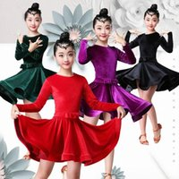 8 Colores Vestido de baile latino para niños Vestidos para niños para niñas Cha Cha Rumba Samba Jive Vestidos Dance Costume Ballrom bailando Z3JM #
