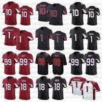 Hommes 10 Deandre Hopkins 1 Kyler Murray 99 J.J. JJ Watt 18 AJ Green Football Jerseys