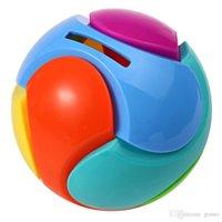 البلاستيك الجمعية اللغز اللغز الملونة جولة الكرة أصبع البنك تصميم 3D لغز التعليم الفكري لعب للأطفال