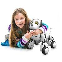 RC Walking Robot Dog 2. Control remoto inalámbrico Smart Dog Electronic PET juguete educativo juguete niño cumpleaños regalo de Navidad LJ201105