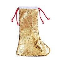 التسامي جوارب عيد الميلاد الترتر الجوارب هدية حقيبة الديكور شجرة عيد الميلاد قلادة زخرفة الجوارب المليئة سفينة البحر CCE8519