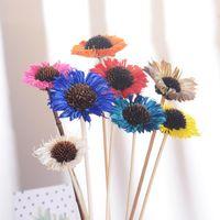 Decorative Flowers & Wreaths 5PCS Naturally Dried Sunflower Artificial Flower Farmhouse Filler Floral Decor Fake DIY Garland Home Wedding
