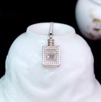 CoLife Jewelry Silver Wine Bottle Pendant For Woman 0.5ct D Color Moissanite 925 Chains