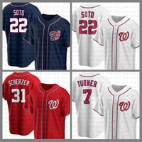 Washington Baseball Jersey Nationals Custom 22 Juan Soto 31 Max Scherzer 7 Turner Bryce 6 Anthony Rendon 34 Harper 11 Ryan Zimmerman