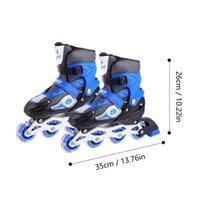 Çift Pratik Flaş Tekerlekli Paten Ayakkabı Açık Spor Oyuncak Klipboarding
