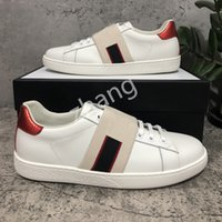 Top Quality Mens Womens Bee Snake Snake Tiger Casual Genuine Leather Shoes Ricamo Classic Trainer Python ricamato Sneakers Amante ricamato