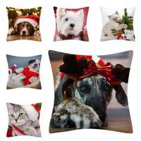 Cushion Decorative Pillow Christmas Cushion Cover Cute Pillowcase Sofa Cases Seat Car Home Decor Decoration For