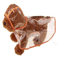 شفافة جرو المطر ارتداء الكلب الملابس العالمي للماء الحيوانات الأليفة الملابس الصيف الربيع مقنعين الحيوانات الأليفة المعطف 5 اللون NHD7398