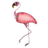 Poison animal des métaux Flamingo Flamingo Statues de corail de mur et sculptures pour la décoration de jardin Miniatures extérieures