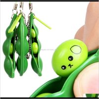 Party Favor Decompression Edamame Fidget Toy Pop It Squishy Squeeze Peas Beans Keychain Adult Rubber Anti Stress Toys Kids A4Sdt Gxzxj