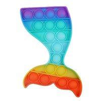 Adulti per bambini Push Fidget Giocattoli Semplice Desktop Puzzle per bambini Silicone Sensoriale Sensoriale Pressatura Bolla Giocattoli Board Game H41P9WN