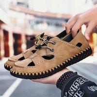 أولوم الصيف الرجال الصنادل ضوء تنفس أحذية الشاطئ الأصلي zapatos دي hombre الكبار جودة عالية الرجال عارضة الأحذية الأحذية المسطحة إسفين T6M4 #