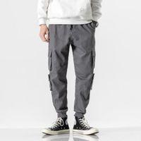Thoshine Brand Uomini Pantaloni da carico Casual Joggers Vita elastica 97% Cotone Traspirante maschio Streetwear Pantaloni Pantaloni Pantaloni Plus Size 8XL1