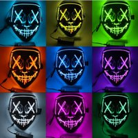 Rave Toy Halloween Mask LED Light Up Party Masks The Purge Election Year Great Funny Festival Cosplay Costume Supplies Glow In Dark