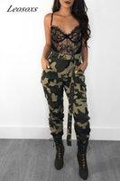 2021 Women Camo Cargo High Waist Hip Hop Pants Loose Casual Camouflage Long Pants Hot Capris Sweatpants