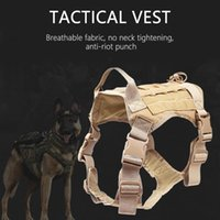 Dog Apparel Adjustable Tactical Service Vest Training Hunting Molle Nylon Water-resistan Military Harness With Handle