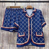 Vintgae Sleep Top Bottoms Womens Mens Lover 2pcs Set Sleepwear letras Impreso Design Diseño Pijamas transpirables