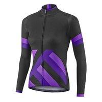 Yarış Ceketler Kadın Bisiklet Jersey Uzun Kollu Pro Ekibi Yokuş Aşağı Bisiklet Üst Sonbahar Dağ Bisiklet Giyim Spor Döngüsü Giyim Ceket 2021