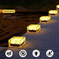 Strings Solar Led Light Waterproof Ice Rock Brick Lawn Pathway Garden Lights Outdoor Wedding Decoration Fairy