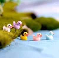 Decoração de figurinhas em miniatura do gnomo de pato decoração de jardim de fadas 5 cores cacto suculento plantador acessório micro paisagem aquário aquático sn5539