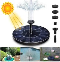 Outdoor Solar Powered Water Fountain Pump Floating Bird Bath Garden Pond Watering Kit For Garden Decorations