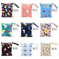 Diaper Bags Sanitary Napkin Storage Bag Cartoon Printing Tpu Washable Environmental Organization 20*25cm 40styles Hhc7523