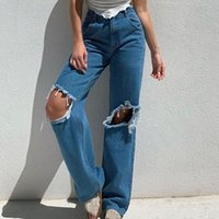 Women's Jeans Loose For Women High Waist Stretch Wide Leg Femme Trousers Casual Comfort Denim Mom Pants 2021 Washed Jean