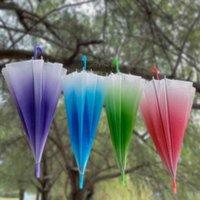 Ombrelloni sfumatura colore pioggia elegante semplicità bolla manico lungo la maniglia trasparente ragazza bambini fungo ombrello trasparente ambientale G4W2539