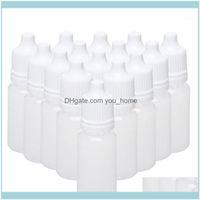 Kavanoz Depolama Katlık Örgütü Ev Garden100pcs 15 ml Boş Plastik Sıkılabilir Şişeler Göz Sıvı Damlalık Doldurulabilir Şişeler1 Bırak