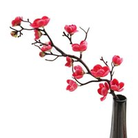 중국어 스타일 말린 지점 작은 매화 꽃 체리 결혼식 꽃 인공 가정 장식 장식 꽃 화환