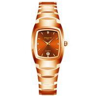 Хорошие продажи роскоши влюбленные пары кварцевые смарт-алмазные часы 40 мм циферблат мужские 25 мм диаметр женские часы вольфрамовые стальные натуральные часы