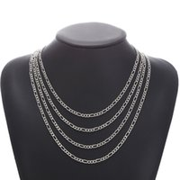 Classic Men Necklace Stainless Steel Cuban Chain Necklaces For Women Punk Jewelry size 55 60 65 70cm