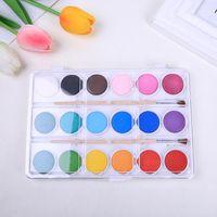 Gift Sets 2021 18-color Children's Solid Art Watercolor Paint Gouache For Artist Painting Supplies CN(Origin)