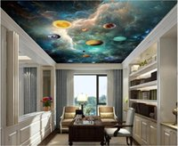 Wallpapers 3d Ceiling Mural Po Wallpaper Starry Sky Planet Space Galaxy Home Decor In The Living Room For Walls Rolls