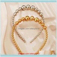 Headbands Jewelrytrendy Imitation Pearl For Women Elegant Headband Personality Fashion Girls Headwear Wedding Bridal Hair Jewelry Drop Deliv