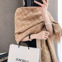 Sciarpa lunga di cachemire lunga stampata di alta qualità per la sciarpa calda imbottita autunnale e invernale da donna 180 * 70