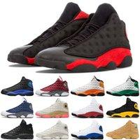 Мода 13 13S Jumpman Мужчины Баскетбольные Обувь Красный Флинт Hyper Royal Gold Glitter Чикаго Черное Кот Мужские Тренеры Спортивные кроссовки Размер 7-13
