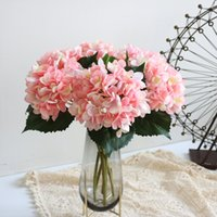 47cm Artificial Hydrangea Flower Head Fake Silk Single Real Touch Hydrangeas 8 Colors for Wedding Centerpieces Home Party RRD10859