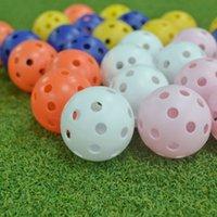 Игрушечный шар крытый для детской дрелью с отверстиями тренировочные спортивные мячи для гольфа полые отверстия сфера качания многоцветный дополнительный 0 38гр ч