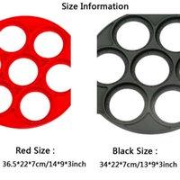 Les œufs au plat rouge et noir Le moule en silicone n'est pas adhésif, le fonctionnement simple d'accessoires de cuisine est pratique et pratique