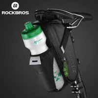 ROCKBROS Rainproof Bike Rear Bag With Water Bottle Pocket Bicycle Tail Seat Saddle Bags Reflective Pouch Cycling Accessories
