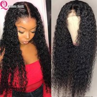 Lace Wigs 30 Inch Kinky Curly Wig Pre Plucked T Part Transparent Human Hair Remy Brazilian Wet And Wave
