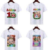 2021 Cartoon Cocomelon Gedruckt JJ Kinder Kurzarm T-Shirt Mode Baby Kinder T-Shirts Für Jungen und Mädchen Sommer Kleidung G336676